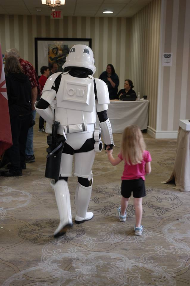 Stormtrooper and daughter